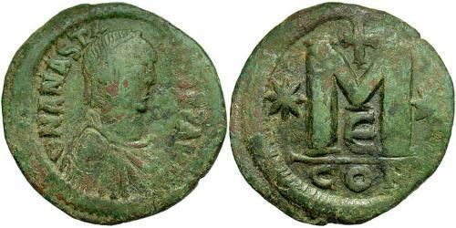 1 Follis Byzantine Empire (330-1453) Bronze Anastasius I (430-518)