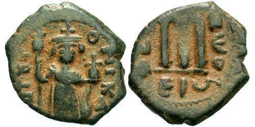 1 Follis Byzantine Empire (330-1453) Bronze Constans II (630-668)