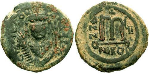 1 Follis Byzantine Empire (330-1453) Bronze Tiberius II (535-582)