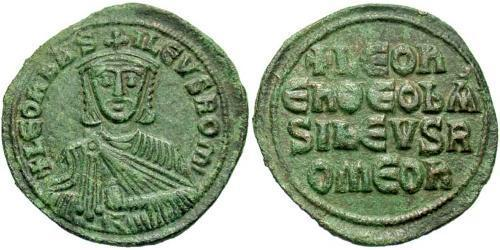 1 Follis Byzantine Empire (330-1453) Bronze Leo VI Wise (866-912)