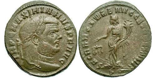 1 Follis Roman Empire (27BC-395) Bronze Maximianus (250-310)