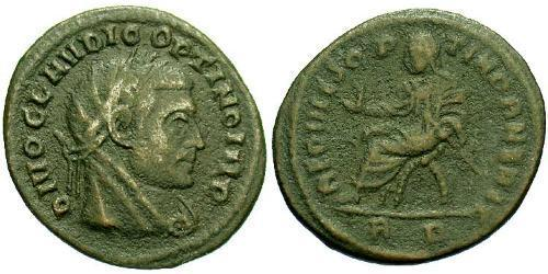 1 Follis Roman Empire (27BC-395) Bronze Claudius II  (213-270)