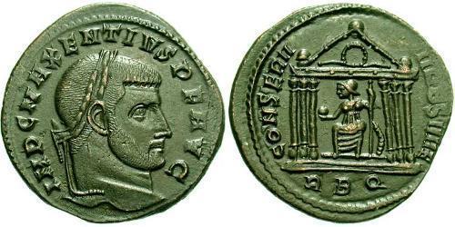 1 Follis Western Roman Empire (285-476) Bronze Maxentius (278-312)