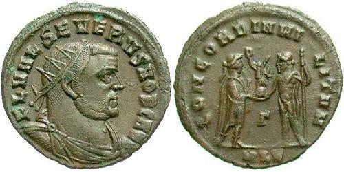 1 Follis Western Roman Empire (285-476) Bronze Severus II (?- 307)