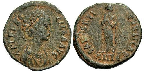1 Follis / 1 AE2 Roman Empire (27BC-395) Bronze Aelia Flaccilla (?-385)