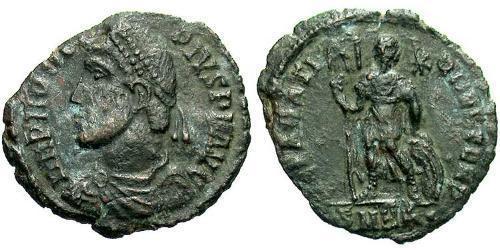 1 Follis / 1 AE3 Imperio romano (27BC-395) Bronce Procopio (325- 366)