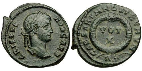 1 Follis / 1 AE3 Roman Empire (27BC-395) Bronze Crispus (305 - 326)