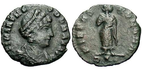 1 Follis / 1 AE4 Roman Empire (27BC-395) Bronze Theodora (500-548)
