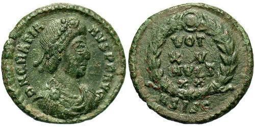 1 Follis / 1 AE4 Western Roman Empire (285-476) Bronze Gratian (359-383)