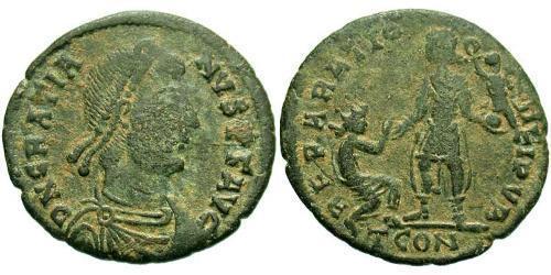 1 Follis /  AE2 Western Roman Empire (285-476) Bronze Gratian (359-383)