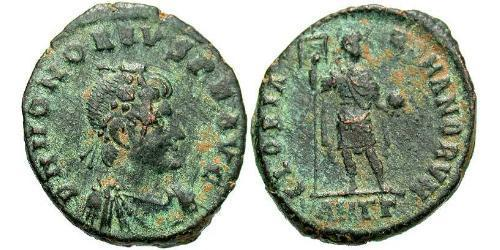 1 Follis /  AE2 Western Roman Empire (285-476) Bronze Honorius  (384-423)