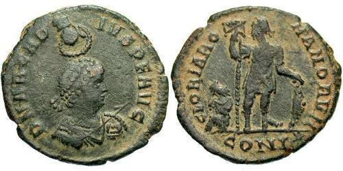 1 Follis /  AE2 Western Roman Empire (285-476) Bronze Arcadius (377-408)