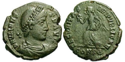 1 Follis /  AE3 Byzantine Empire (330-1453) Bronze Valens (328-378)