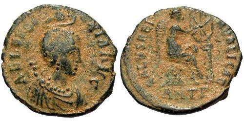 1 Follis /  AE3 Byzantine Empire (330-1453) Bronze Aelia Eudoxia (?-404)