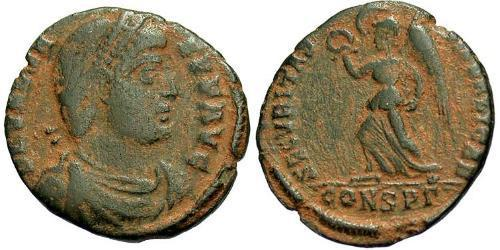 1 Follis /  AE3 Byzantine Empire (330-1453) Bronze Valens (328-378)