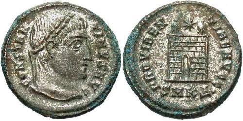 1 Follis /  AE3 Roman Empire (27BC-395) Bronze Constantine I (272 - 337)