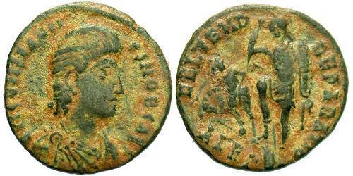 1 Follis /  AE3 Roman Empire (27BC-395) Bronze Trebonianus Gallus (206-253)