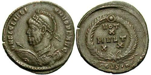 1 Follis /  AE3 Roman Empire (27BC-395) Bronze Julian the Apostate (331-363)