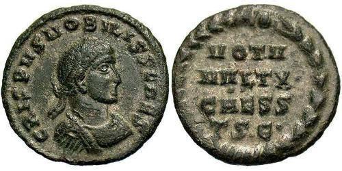 1 Follis /  AE3 Roman Empire (27BC-395) Bronze Crispus (305 - 326)