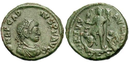1 Follis /  AE3 Western Roman Empire (285-476) Bronze Arcadius (377-408)