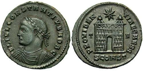 1 Follis /  AE3 Western Roman Empire (285-476) Bronze Constantius II (317 - 361)