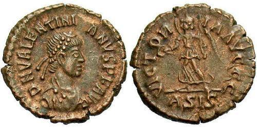 1 Follis /  AE4 Roman Empire (27BC-395) Bronze Valentinian II (371-392)