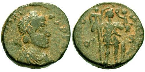 1 Follis /  AE4 Western Roman Empire (285-476) Bronze Honorius  (384-423)