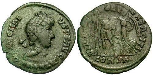 1 Follis /  AE4 Western Roman Empire (285-476) Bronze Arcadius (377-408)
