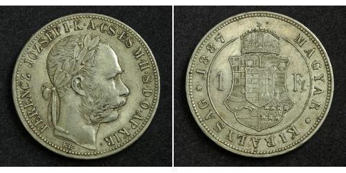 1 Forint 奥匈帝国 (1867 - 1918) 銀 弗朗茨·约瑟夫一世 (1830 - 1916)