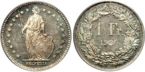 1 Franc 瑞士 銀