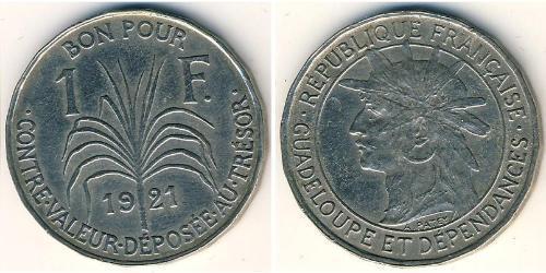 1 Franc Guadeloupe 銅/镍