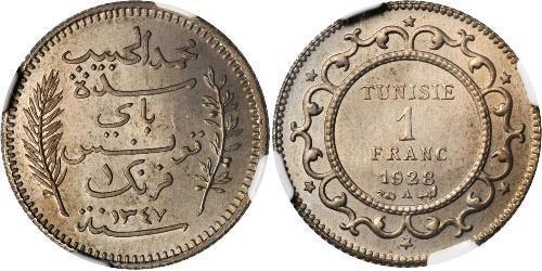 1 Franc Tunisia Argento