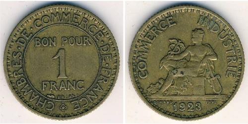 1 Franc Tercera República Francesa (1870-1940)  Bronce