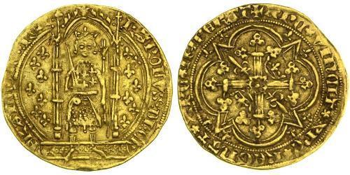 1 Franc Kingdom of France (843-1791) Gold Charles V of France (1338 - 1380)