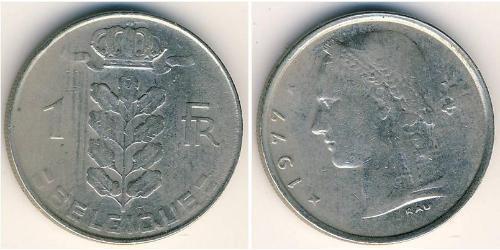 1 Franc Bélgica Níquel/Cobre