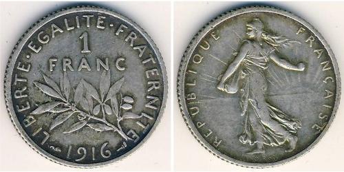 1 Franc France Silver/Copper-Nickel/Nickel