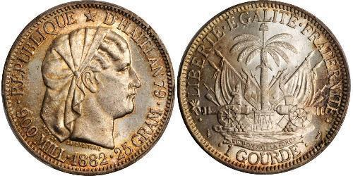 1 Gourde Гаити Серебро