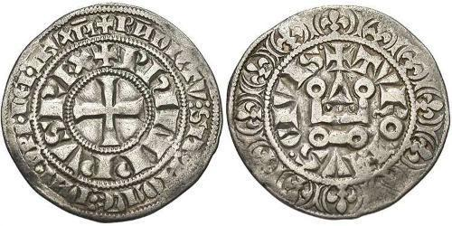 1 Gros Tournois Kingdom of France (843-1791) Silver Philip IV of France (1268 -1314)
