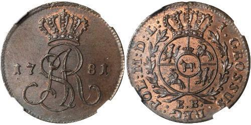 1 Grosh Polish-Lithuanian Commonwealth (1569-1795) 銅 斯坦尼斯瓦夫·奥古斯特