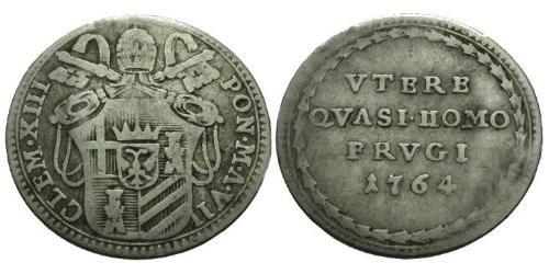 1 Grosso Papal States (752-1870) Silver Pope Clement XIII (1693 -1769)