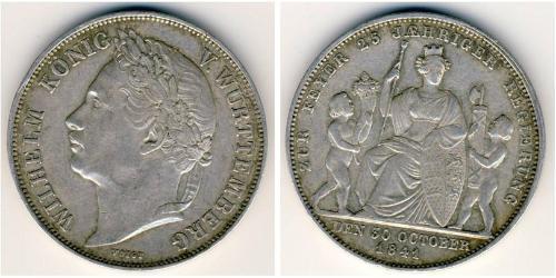 1 Gulden Regno di Württemberg (1806-1918) Argento Guglielmo I di Württemberg