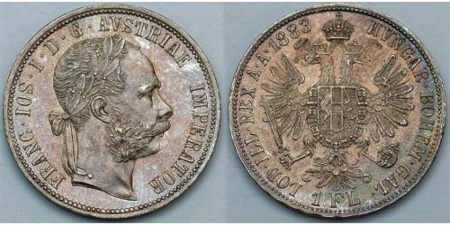 1 Gulden / 1 Florin Imperio austrohúngaro (1867-1918) Plata Franz Joseph I (1830 - 1916)