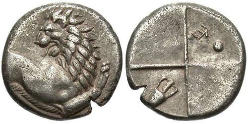 1 Hemidrachm Ancient Greece (1100BC-330) 銀