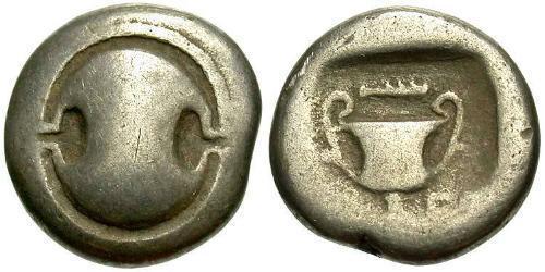 1 Hemidrachm Boeotia Silver