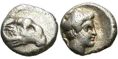 1 Hemiobol Ancient Greece (1100BC-330) Silver