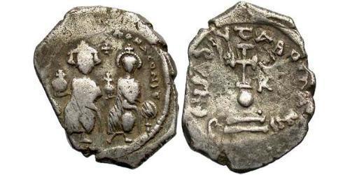 1 Hexagram Byzantine Empire (330-1453) Silver Heraclius (575-641)
