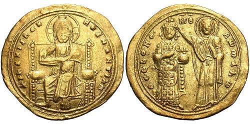 1 Histamenon Byzantine Empire (330-1453) Gold Romanus III Argyrus (968-1034)