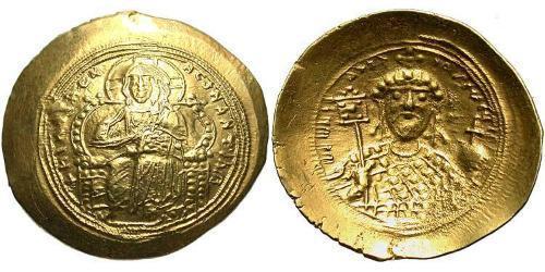 1 Histamenon Byzantine Empire (330-1453) Gold Constantine IX Monomachus (1000-1055)