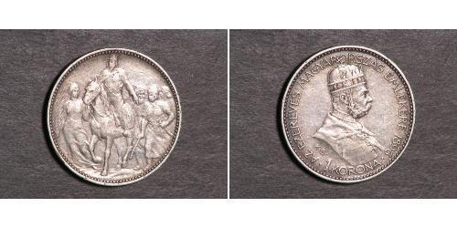 1 Korona Австро-Венгрия (1867-1918) Серебро Франц Иосиф I (1830 - 1916)