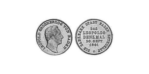1 Kreuzer Grand Duchy of Baden (1806-1918) Copper Frederick I, Grand Duke of Baden (1826 - 1907)